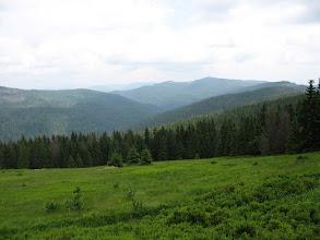 Photo: 21.Polana Jaworzyna Kamienicka. Sama Jaworzyna Kamienicka (1288 m), położona trochę powyżej polany, jest drugą co do wysokości górą w Gorcach.