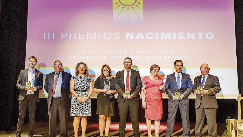 Premiados en la gala del año pasado.