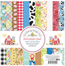 Doodlebug Double-Sided Paper Pad 6X6 24/Pkg - Down On The Farm