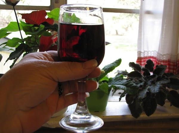 Pour a glass of red wine to drink while cooking