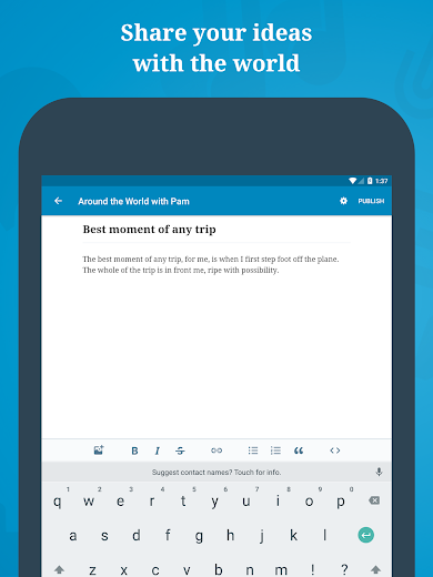 Screenshot 6 for WordPress's Android app'