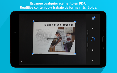 Adobe Scan: digitalizador de PDF, OCR Screenshot