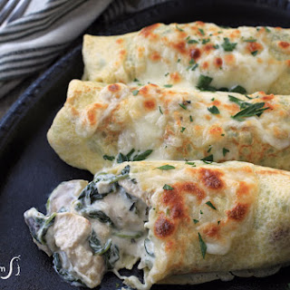 Spinach Chicken Crepes