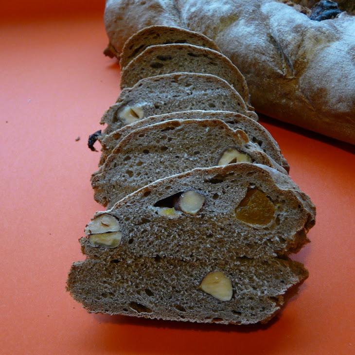 Buckwheat, Hazelnut, and Dried Apricot Bread