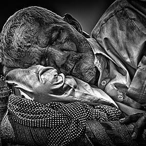 Dreaming  by Muhammad Gujjar - People Street & Candids ( wrinkles, old man, sleeping, people, culture,  )