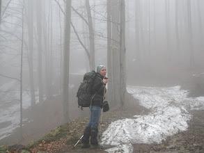 Photo: 03.Ania na podejściu żółtym szlakiem.