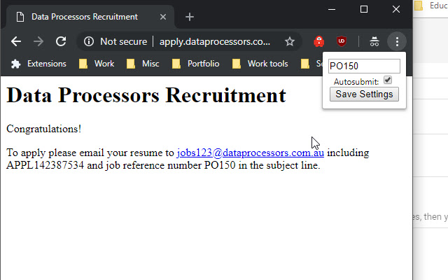 Data Processors Recruitment Solution