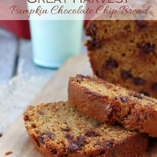 Great Harvest Pumpkin Chocolate Chip Bread