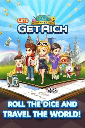 LINE Let's Get Rich Mod 1.07 (Unlimited Money and Coins) APK