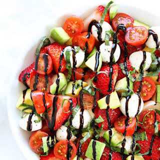 Avocado Strawberry Caprese Salad.