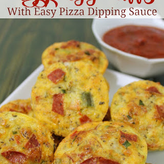 Pizza Egg Puffs with Pizza Dipping Sauce