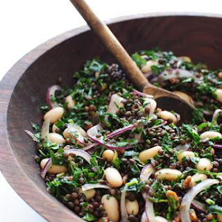 Lentil, Kale and White Bean Salad Recipe