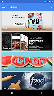 Chowii: Search Video Recipes- screenshot thumbnail