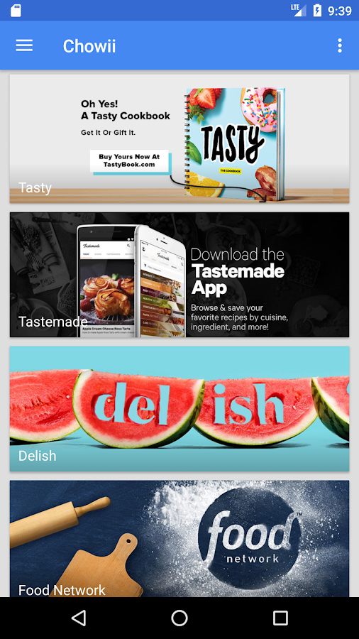 Chowii: Search Video Recipes- screenshot