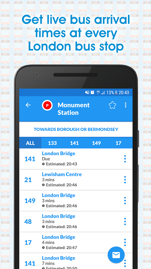 Live London Bus Track Arrivals- screenshot