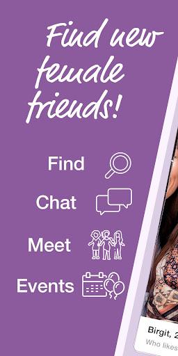 friendsUp u2013 Find new female friends screenshots 1