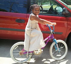 Photo: she finally got her bike! 7/3/12