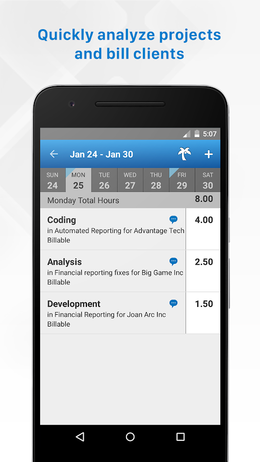 Replicon - Timesheets with GPS- screenshot