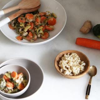 Chicken and Vegetables in coconut milk.