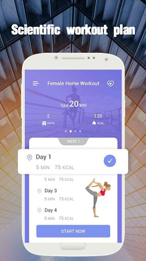 Female Home Workout—free fitness app & weight loss screenshot 1