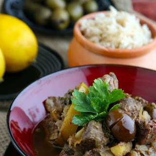 "Slow Cooker ""Tagine"" of Mutton with Lemon and Olives"
