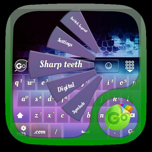 锋利的牙齿 GO Keyboard 個人化 App LOGO-硬是要APP