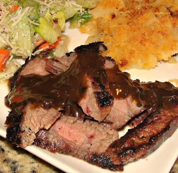 Grilled Flank Steak With Soy-mustard Sauce
