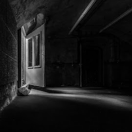 Way out BW by Rob Menting - Buildings & Architecture Decaying & Abandoned ( canon, urban exploration, eos, urbex, europe, 70d, limburg, ck theater, roermond, netherlands, canon eos 70d )