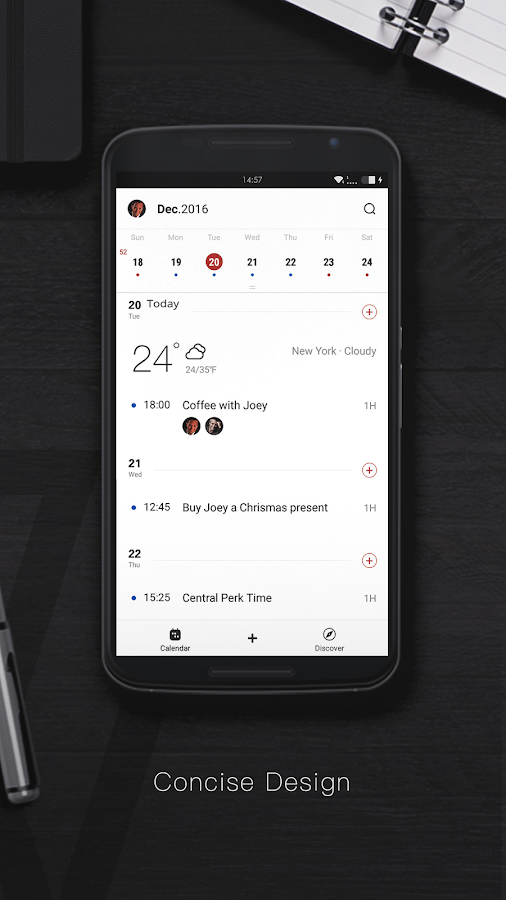 WeCal Pro Calendar- screenshot