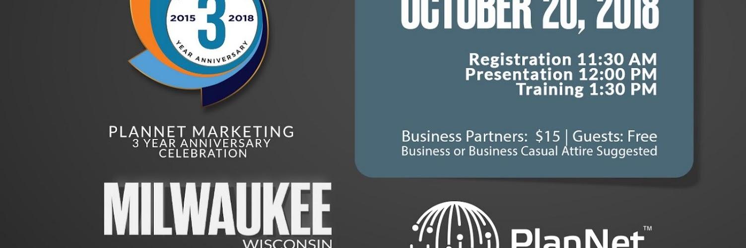 PlanNet Marketing 3 Year Anniversary Celebration Milwaukee