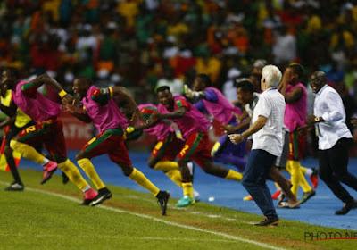 Broos et ses Lions reçus par le président camerounais
