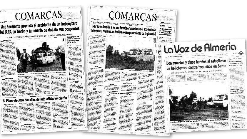Reproducción de los artículos publicados en LA?VOZ en 1992 referentes al accidente aéreo de Serón.