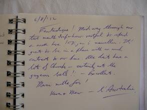 Photo: Merci Karen et Mervyn! Vraiment trop sympathiques les Australiens!