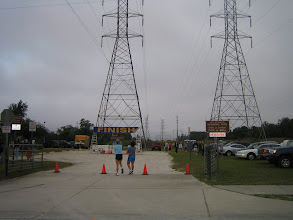 Photo: Finishing the race was an electrifying experience. I hope we didn't get too much radiation.