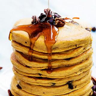 Perfect Pumpkin Chocolate Chip Pancakes