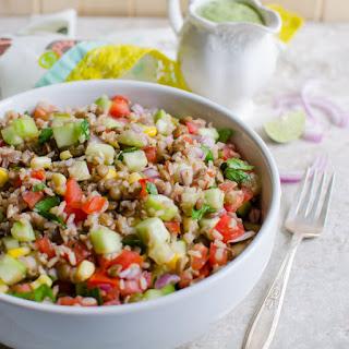 Healthy Brown Rice & Lentil Salad.