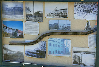 Photo: This display shows various scenes from the copper mining boom in Lake Linden.