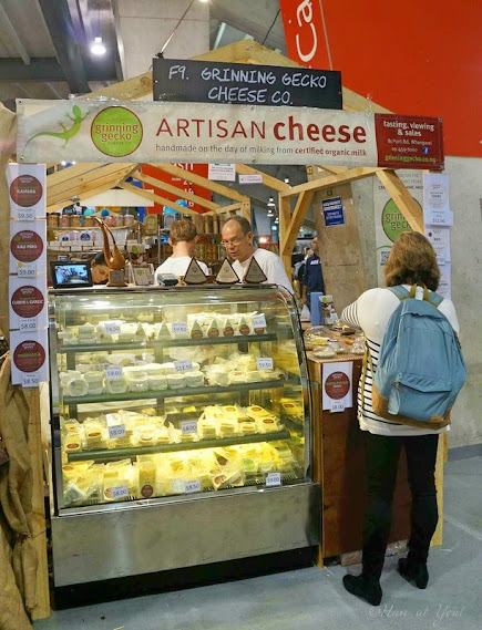 Grinning Gecko artisinal cheese booth
