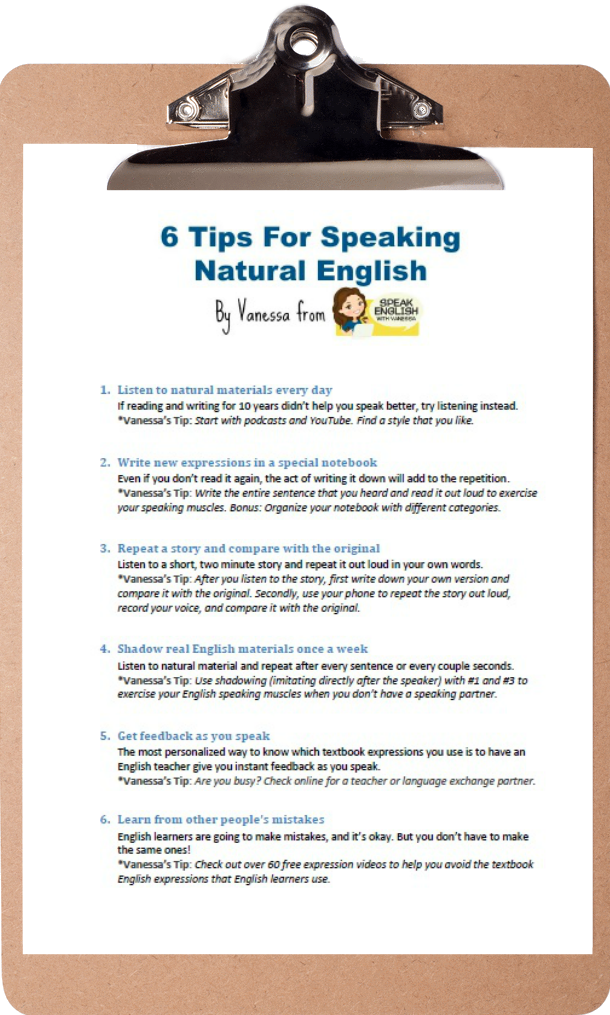 how to speak english tips