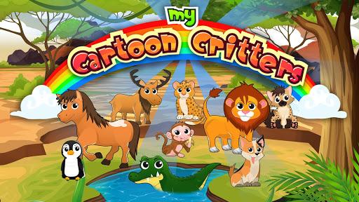 卡通動物:來玩玩這個最富教育性的動物主題學習遊戲 它有趣