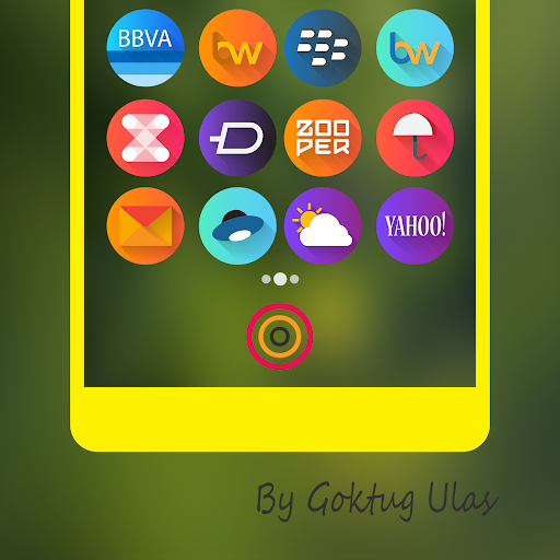Graby Spin - Icon Pack app for Android screenshot