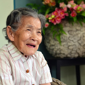 Senior Citizen by Domi Chung - People Portraits of Women ( old, faces, senior citizens, portraits, people, chinese, elders, asian,  )