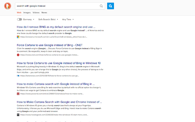 Search with Google Instead