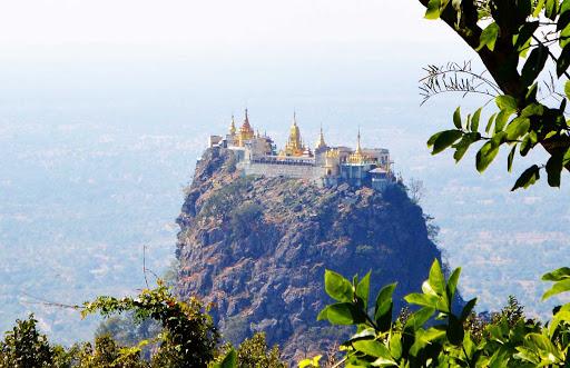 mountaintop - High atop Mt. Popa,  a monastery.