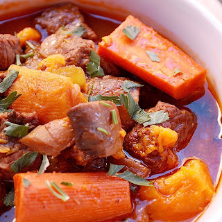 Slow Cooker Beef Stew with Sweet Potatoes (Paleo).