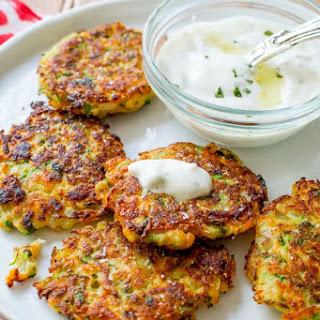 Zucchini Fritters with Garlic Herb Yogurt Sauce Recipe