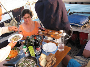 Photo: Paula Francesco Dinner on board Malua