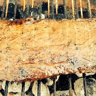 Marinated Flat Iron Steak.