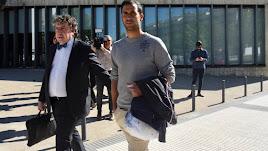 Íñigo López tras ser puesto en libertad este jueves.