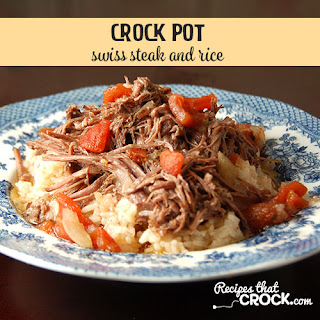 Crock Pot Swiss Steak and Rice